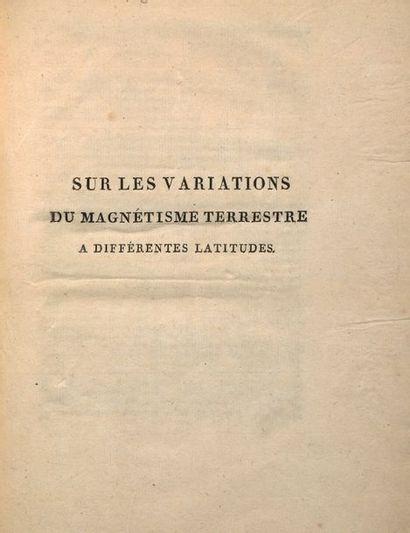 BIOT, Jean Baptiste & HUMBOLDT, Alexander von.
