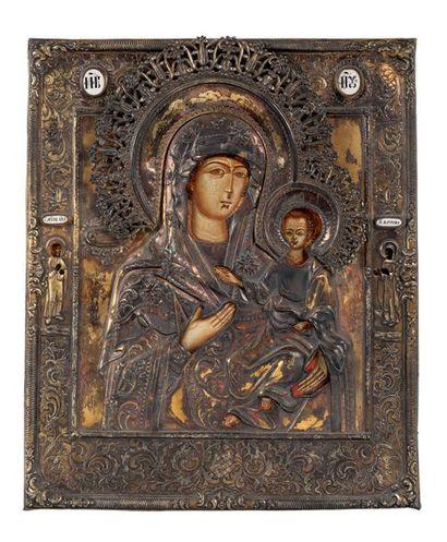 Mère de Dieu de Smolensk La Vierge est figurée...