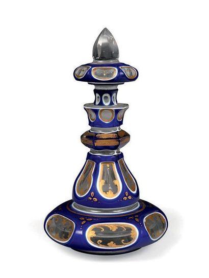 Flacon de cheminée avec son bouchon en cristal...
