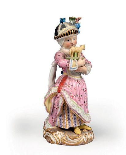 Petite statuette en porcelaine de Meissen....