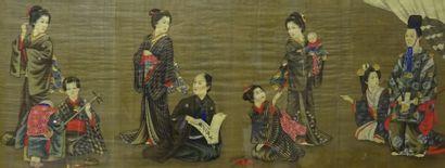 """SET OF TWO (2) PAINTINGS ON PAPER Japan, MEIJI Era (1868-1312) Paintings, gouaches..."