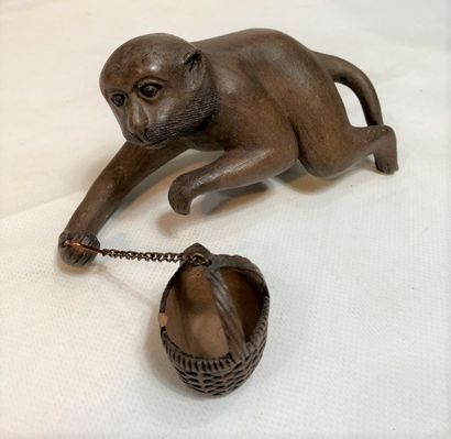 """""""EARTH-ROOF SUBJECT WITH BASKET BASKET RING (accident) H: 8.8 cm - W: 16.5 cm -..."""