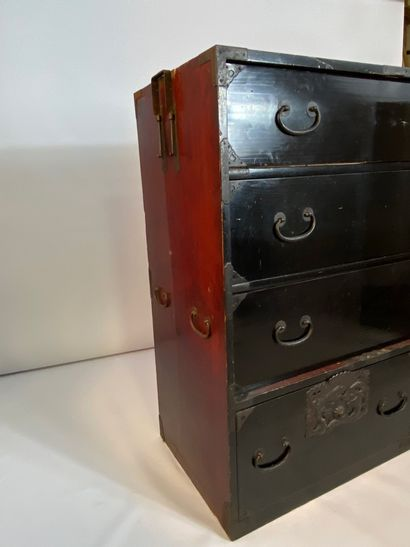 """""""JAPANESE TASTY WOODEN CABINET It opens with three drawers that run lengthwise...."""