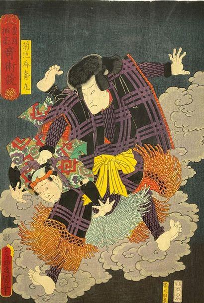 Utagawa Toyokuni III (1786-1865): Oban tate-e...