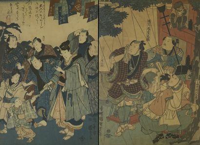 KUNISADA ET KUNIYOSHI Japon Comprenant...