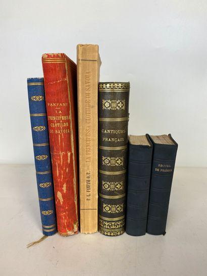 Ensemble de livres sur la maison de Savoie,...