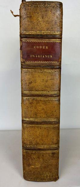 [FAVRE (Antoine)] FABER (Antonius) : Codex...