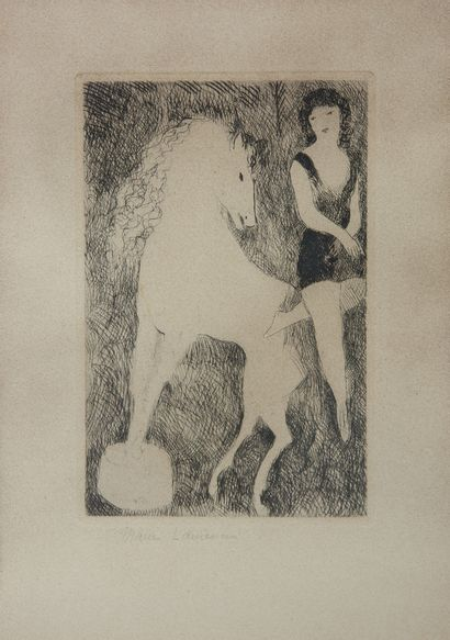 Marie LAURENCIN (1883-1956). Femme au cheval...