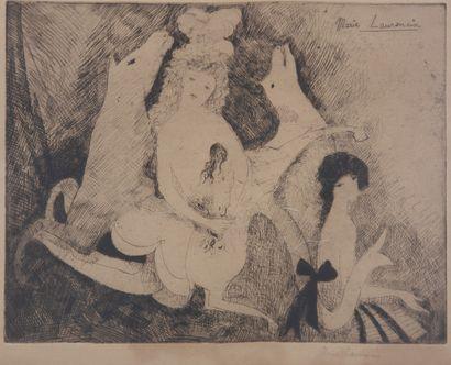 Marie LAURENCIN (1883-1956). Femmes et chevaux...