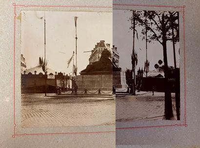 ALBUM PHOTOS (Fin XIX° siècle) : Sur le plat...