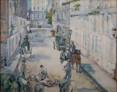 Jean PESCE (né en 1926). La rue Mosnier aux...
