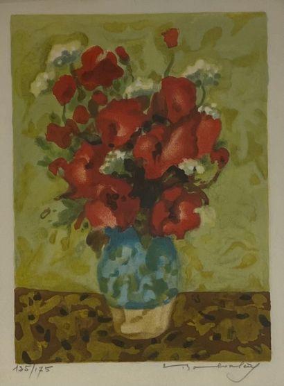 BABOULENE Eugène (1905-1994) Vase aux fleurs...