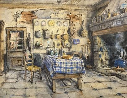 Georges CHAPPUIS (XXe siècle) La cuisine...