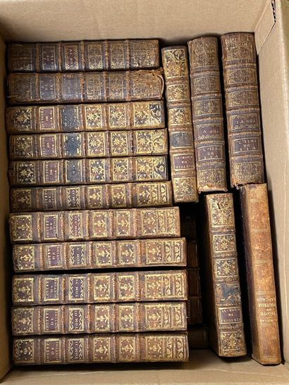 Lot de livres reliés XVIIIe et XIXe sièc...