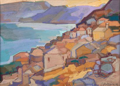 Pierre Bedros ASLANIAN (né en 1937). Village...