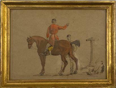 Septime LE PIPPRE (1833-1871) Deux cavaliers...