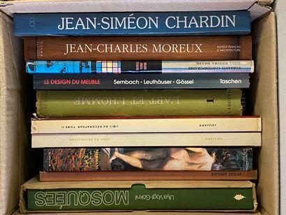Trois mannettes de livres d'art , thèmes...