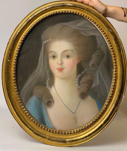 Dans le goût du XVIIIe siècle Portrait d'élégante...