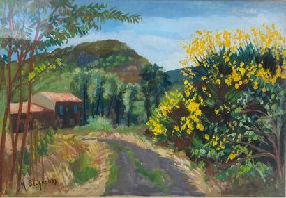 Marcel SEIGNOBOS (1892-1972). Paysages Deux...
