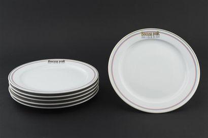 Paul BOCUSE Six Assiettes en porcelaine,...