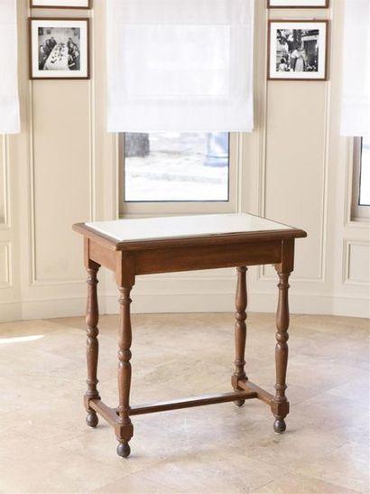 Table desserte rectangulaire en bois reliée...