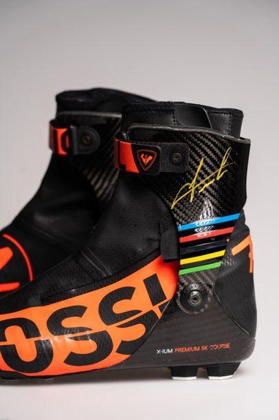 [Biathlon] Chaussures de ski de fond d'Emilien...