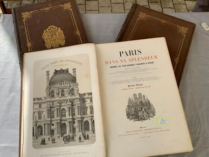 Paris dans sa splendeur. 3 volumes in-folio,...