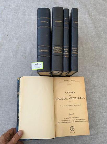 Sciences. 6 volumes XXe, reliés.(un volume...