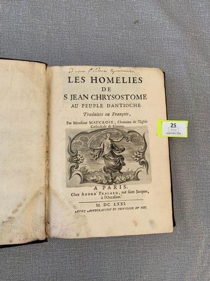 Les homélies de Saint-Jean Chrysostome au...