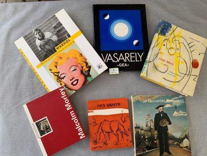 Un ensemble de 6 livres d'art, dont Vasarely,...