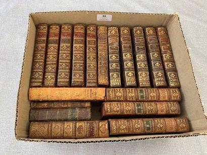 Un ensemble 18 volumes reliés XVIIIe, incomplets,...