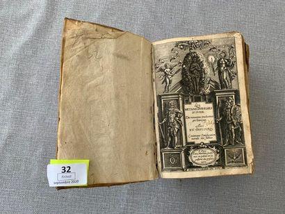 Les métamorphoses d'Ovide. 1 volume. XVIIe....