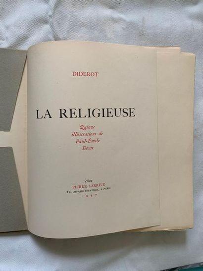 DIDEROT: La Religieuse. Illustré par BECAT....