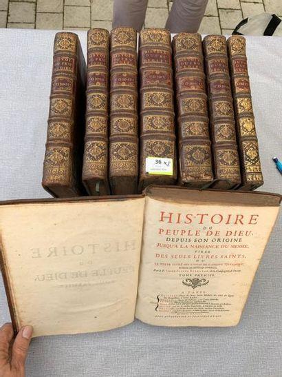 Berruyer. Histoire du peuple de Dieu. 8 volumes...