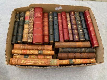 Un ensemble de 23 volumes reliés. XIXe /...