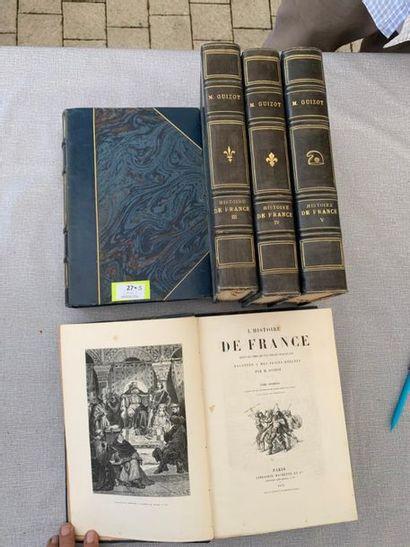 Guizot. Histoire de France. 5 volumes. Reliés,...