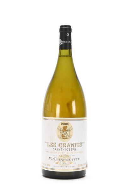 1 Mag SAINT-JOSEPH LES GRANITS Blanc (Caisse Bois d'origine) Chapoutier 2000