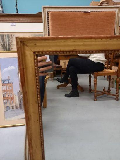 Miroir cadre doré 73 x 57 cm