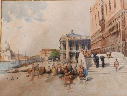 Vue de Venise Aquarelle 32 x 44 cm