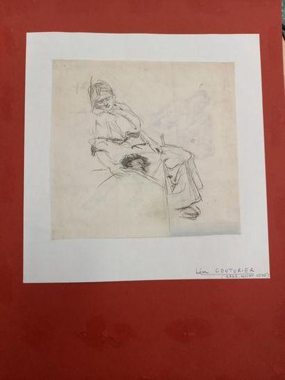 Léon COUTURIER (1842-1935) La garde malade...