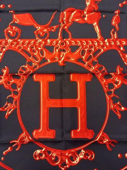 HERMES Paris made in france Carré de soie Vif argent par Dimitri R. Dans sa boite...