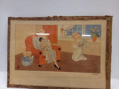 GOUPPY 3 gravures enfantines sur la prière