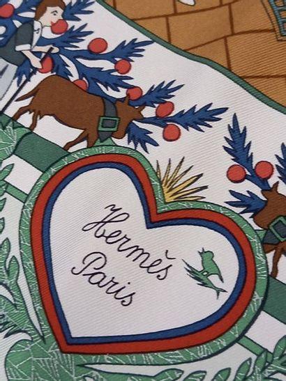 HERMES Paris made in france Carré de soie Découpages par Anne Rosat Dans sa boite...