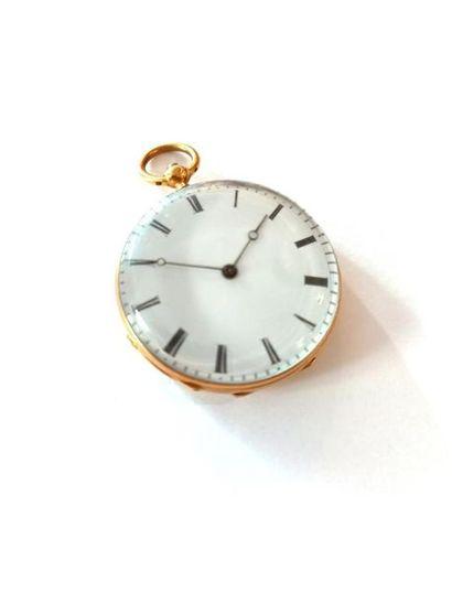 Petite montre en or Poids brut : 32.5g