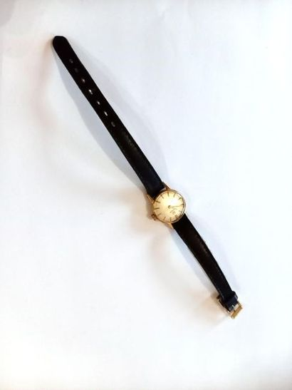 Tissot montre femme bracelet en cuir