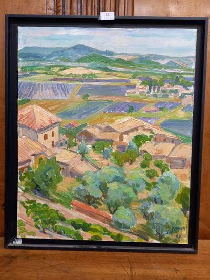 L.J.Simon (1920-2000) Peintre de St Etienne...