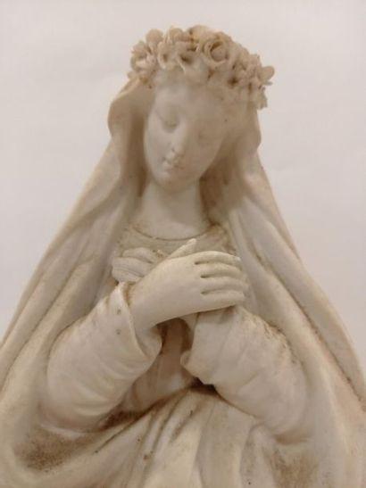 Vierge en plâtre H : 40 cm