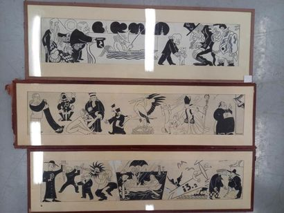 Carlo RIM (1902-1989) Suite de 3 dessins...