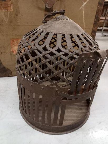 Cage à oiseau en métal H : 42 cm