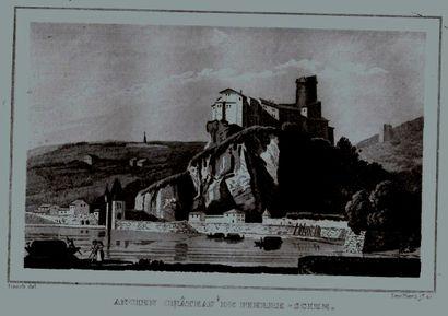 Vue de l'ancien château de Pierre Scize,...